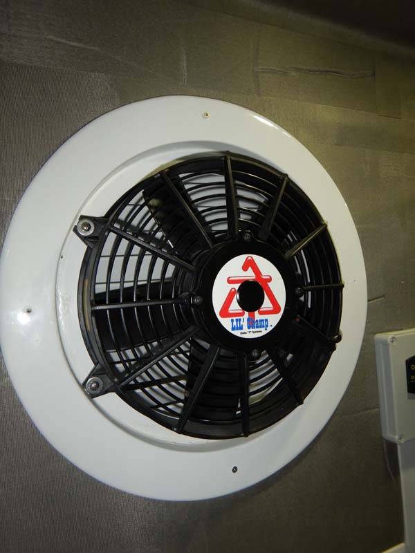 I have two of these fans at the back of the engine room.