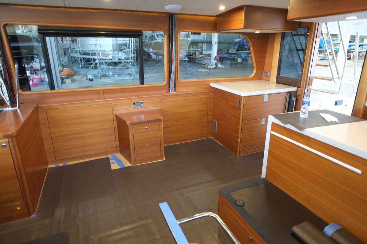 Starboard side of main salon