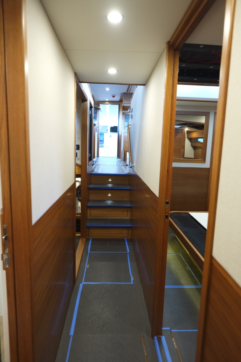 looking aft from the central hallway