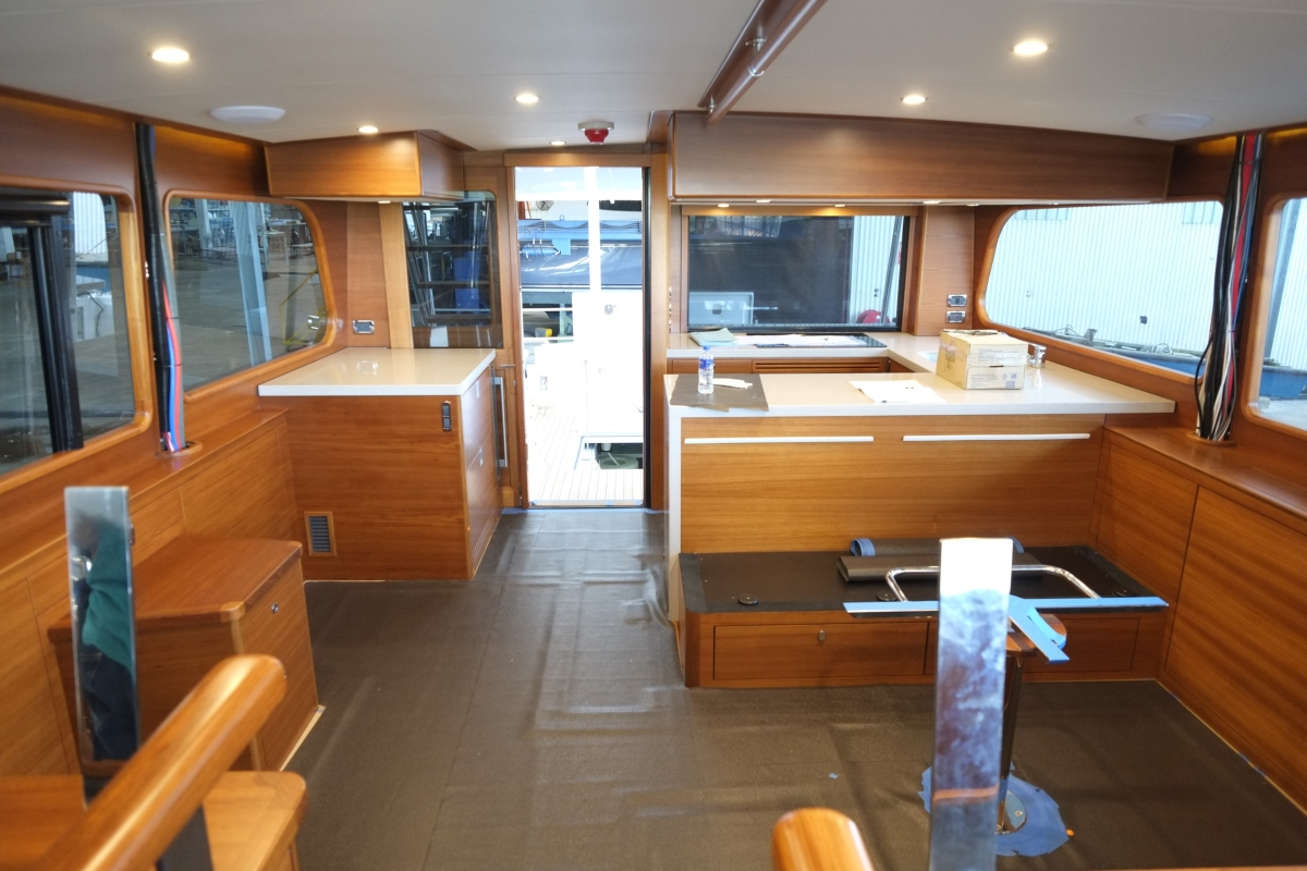Galley, viewed from the helm, looking aft